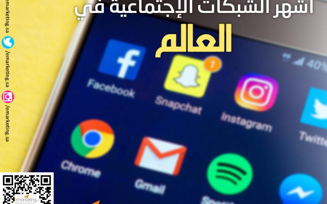 أشهر الشبكات الإجتماعية في العالم