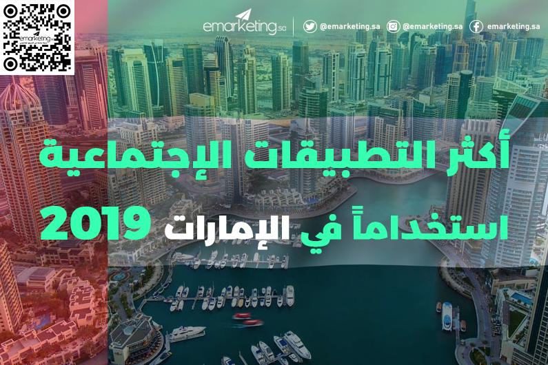 أكثر التطبيقات الإجتماعية إستخداماً في الإمارات 2019